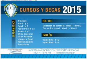 <p>Se encuentra abierta la inscripción para los cursos de informática, inglés y RR.HH. Reserve su [&hellip;]</p>